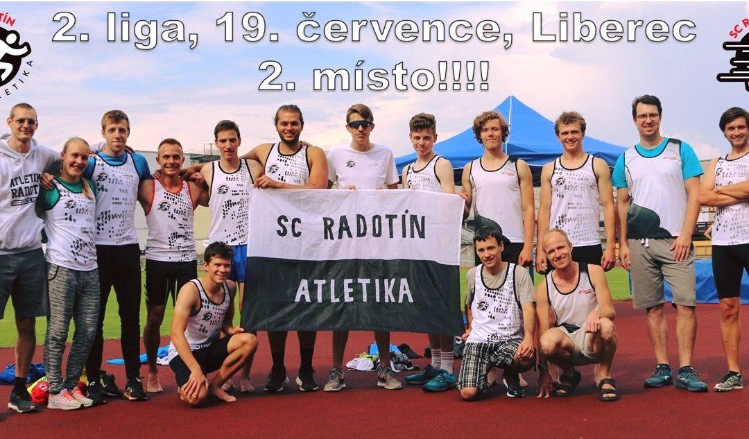 Výborný výkon Radotína ve druhé lize – 2. místo!!!